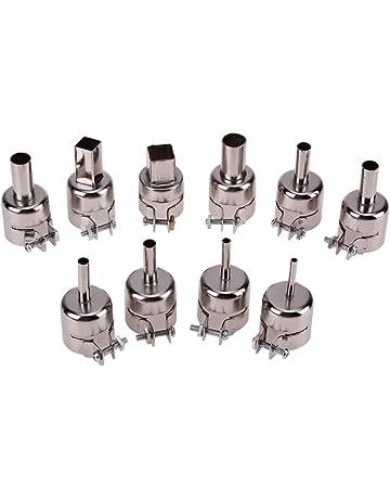 10 boquillas de acero inoxidable resistentes al calor para pistola de aire caliente de 850 852D