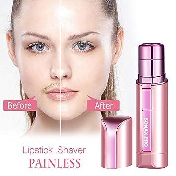 Electric Women Hair Remover Lipstick Shaver Hair Razor Facial Painless Depilator for Women's Cheek Lips Chin