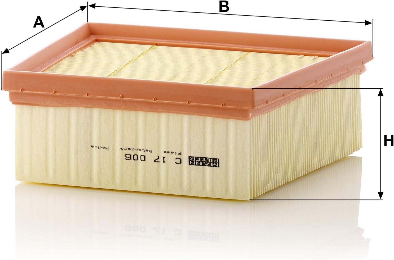 Original Mann Filter Luftfilter C 17 006 Für Pkw Auto