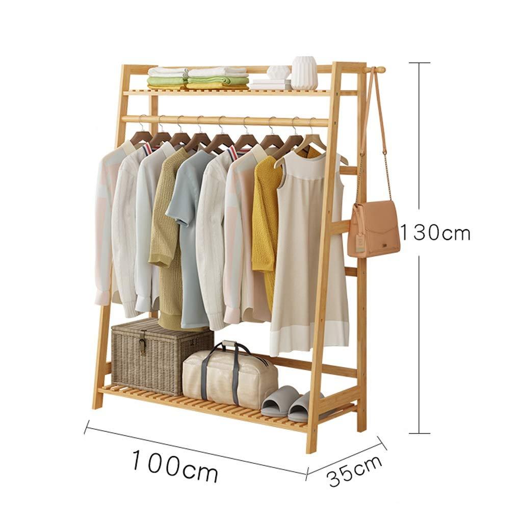TB-Storage Racks Bamboo Coat Coat Clothes Hanging Duty Rack con ripiano superiore e ripiani per abbigliamento (dimensioni : 60cm) TB-ZQH