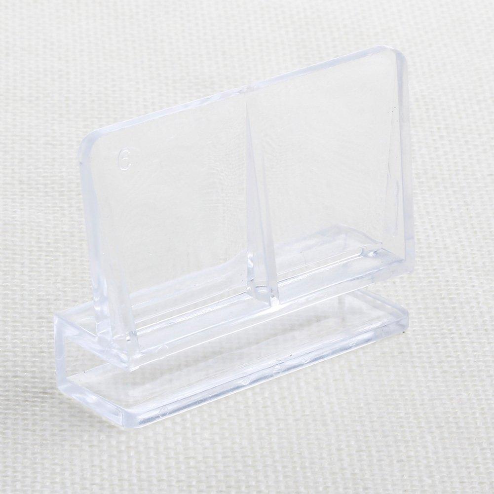 SimpleLife 6mm Aquarium Acryl Clips Glasabdeckung Unterstü tzung Halter 1 Stü ck