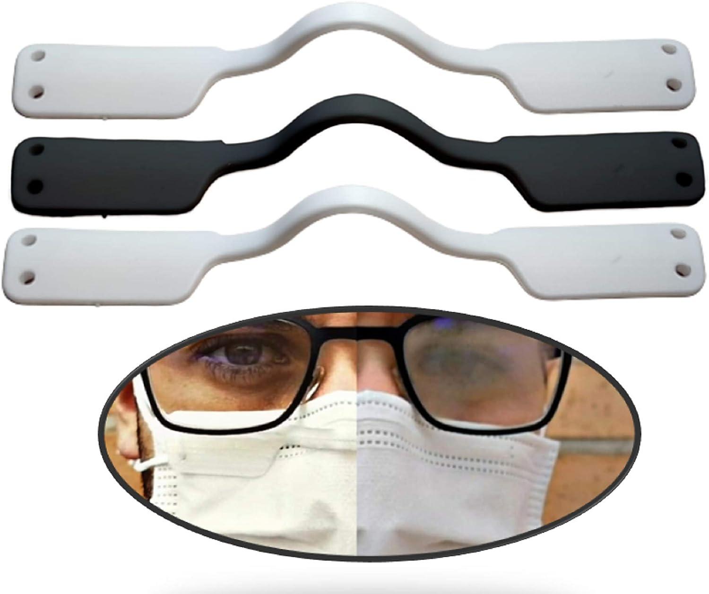 Antivaho para Gafas mascarillas (3 uds) Soporte para la Reducción del Vaho en Las Gafas Reutilzable Puente Nasal Nariz Stop Vaho Sujeta Mascarillas para Todo Tipo de Gafas sin Liquido