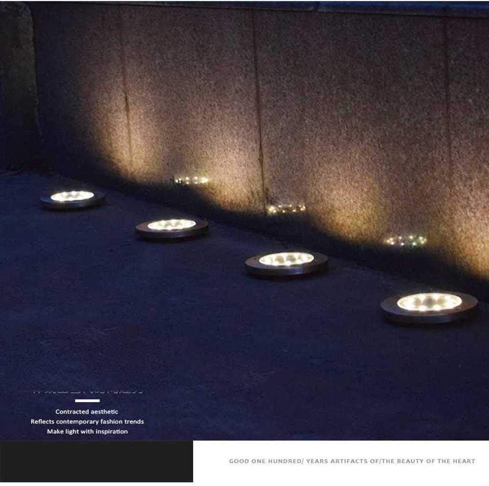 nobrand 6 Stücke/Los 8Led Solar-Gartenleuchten Im Freien wasserdichte Bodenbeleuchtung Solarlampenbeleuchtung Für Path Yard Deck Warm/Weiß Weiß/RGB 6pcs Color Light