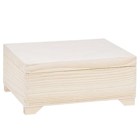 Caja de madera (2 insertos 30 x 20 cm alimentos Caja presupuesto ...