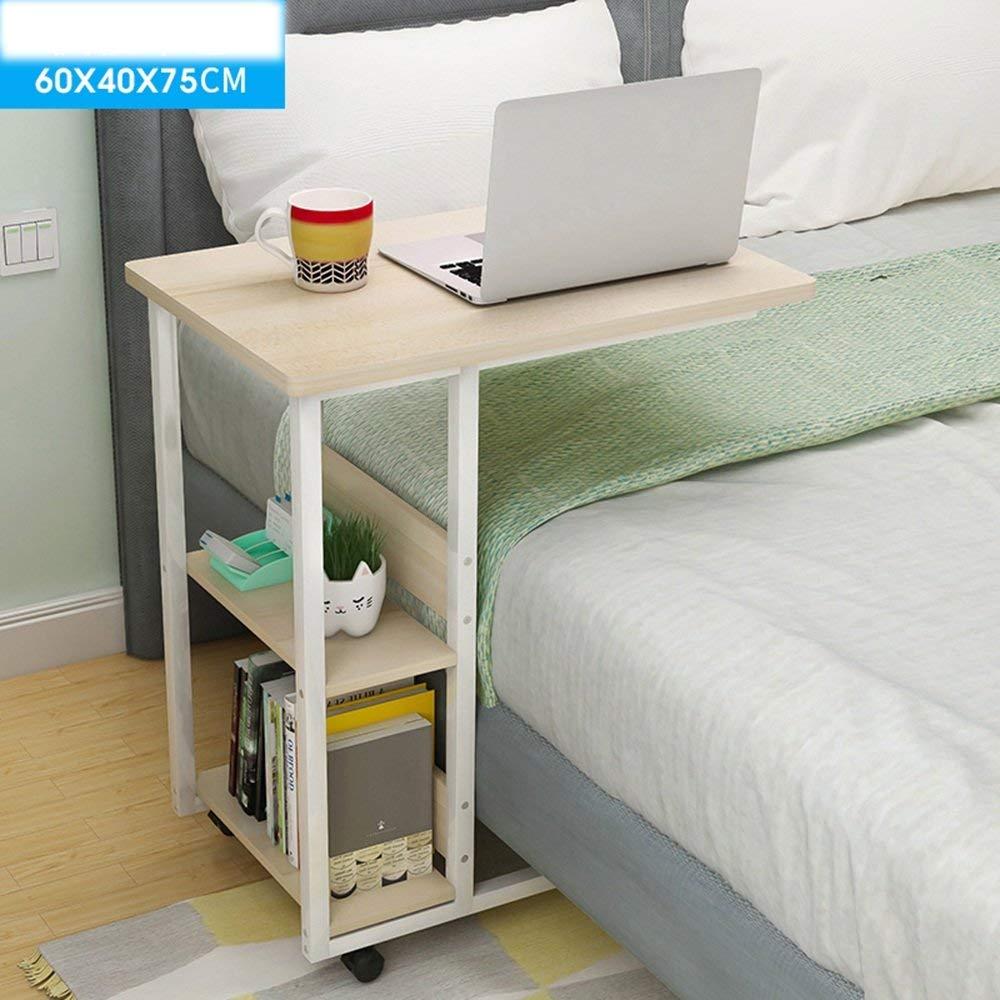 Eeayyygch Cama de Mesa para el hogar o el Hospital, portátil, Lectura y Carrito de Desayuno para Pacientes Bedridden 60 x 40 x 75 cm (Color: Blanco), ...