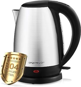 Aigostar Knight – Hervidor de Agua Eléctrico, 1,7 litros, 2200 watios, libre de BPA y material...