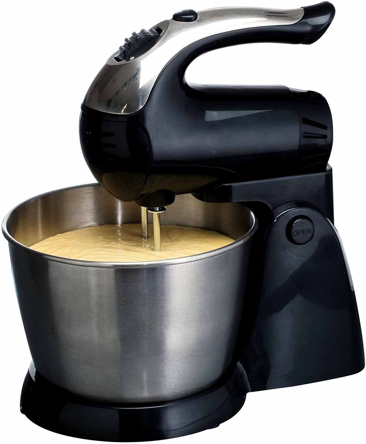 Brentwood SM-1153 200W 5-Speed Stand Mixer - Stainless Steel Bowl - Black Home & Garden by Brentwood