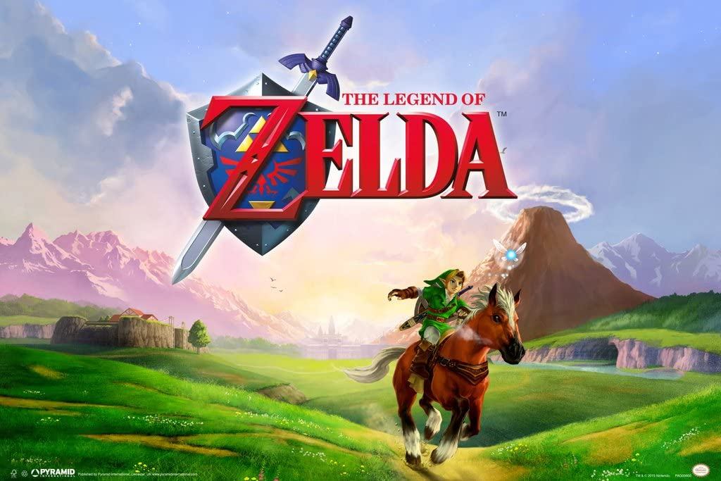 Pyramid America The Legend of Zelda Link Galloping Epona Ocarina of Time Nintendo Video Game Series Cool Wall Decor Art Print Poster 12x18