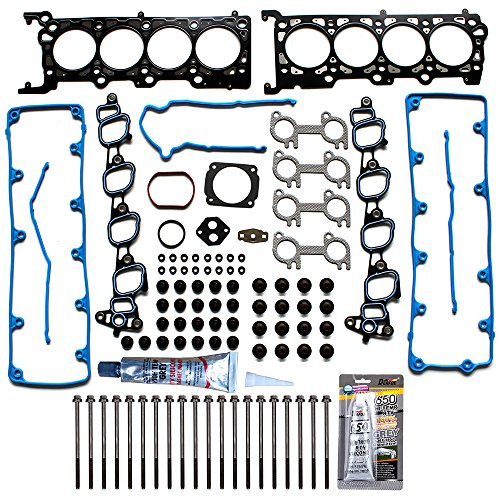 - SCITOO Replacement for Head Gasket Set with Bolts Ford F-250/F-150 E-150 Econoline Expedition 4.6L V8 SOHC 1997-1999 Engine Head Gaskets Sets Kit