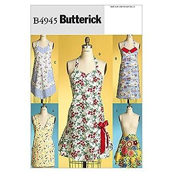 Butterick Schnittmuster 4945 – Classic Schürzen: Amazon.de: Küche ...