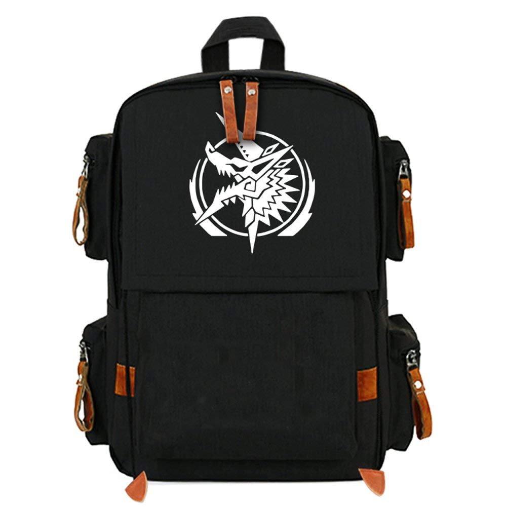 27a5765c15 Amazon.com  XCOSER Monster Hunter Backpack Anime Cosplay Schoolbag Canvas Bookbag  Purse  Clothing