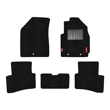 Elegant Cord Black Carpet Car Floor Mat for Hyundai Creta (Set of 5 Pcs)
