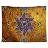 Smartcoco Indian Sun Hippie Hippy Tapestry Boho Bohemian Beach Towel Blanket Picnic Yoga Mat for Home Dorm Decor Psychedelic Celestial Wall Art, 59'' x 51''