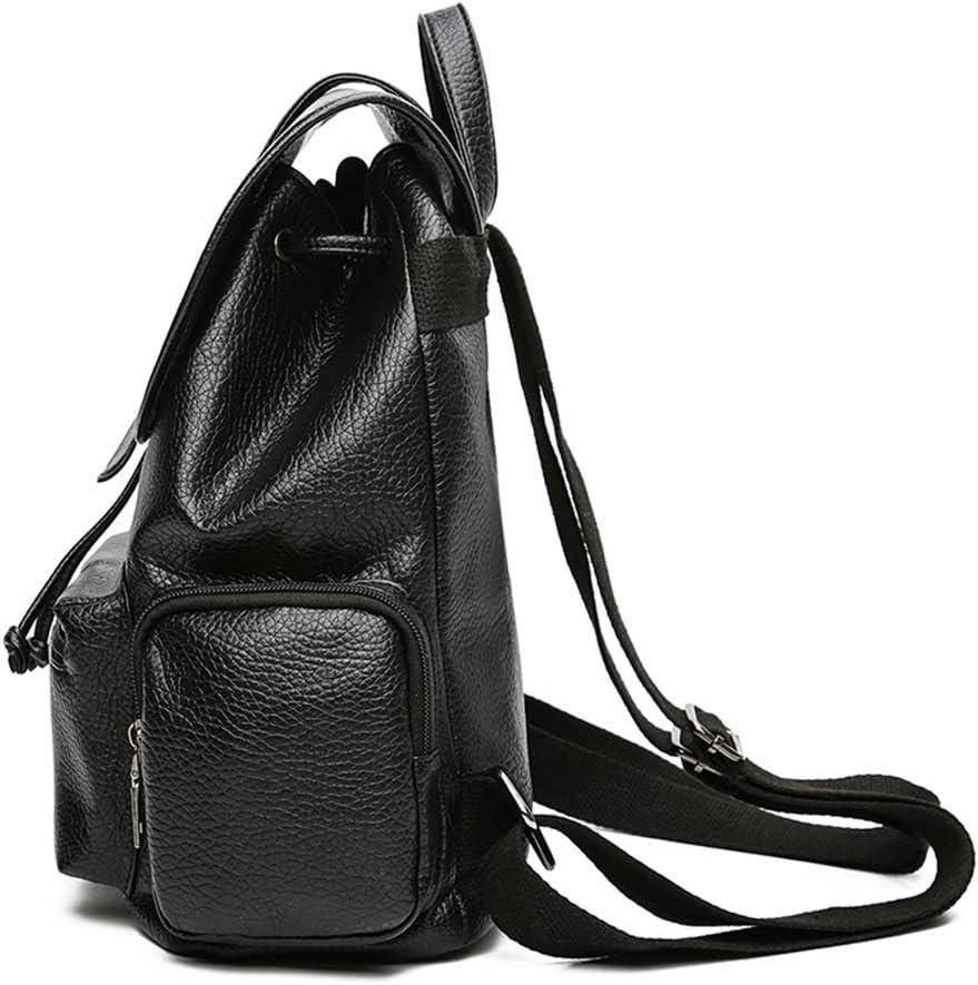 YOPO New Retro Vintage Casual Womens Backpack School Bag Fashion Travel School PU Leather Handbag ipad Bag Four Colors Avaliable