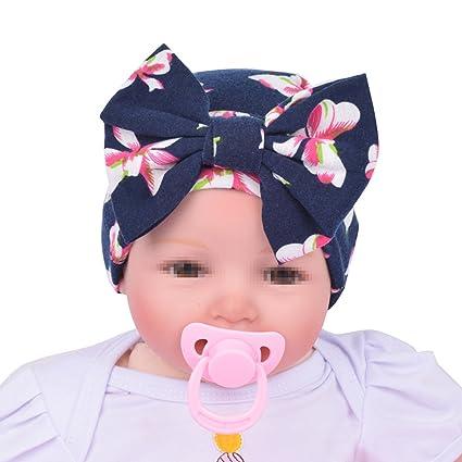 TININNA Bonnets Nouveau Né Coton Crochet Papillons Chapeau Unisexe Bébé  Garçon Fille Naissance Tricot Hat Cap e3add47f5e2