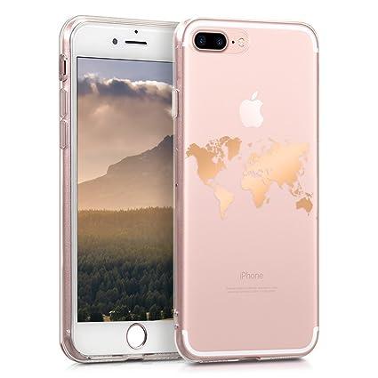 kwmobile Apple iPhone 7 Plus / 8 Plus Hülle - Handyhülle für Apple iPhone 7 Plus / 8 Plus - Handy Case in Rosegold Transparen