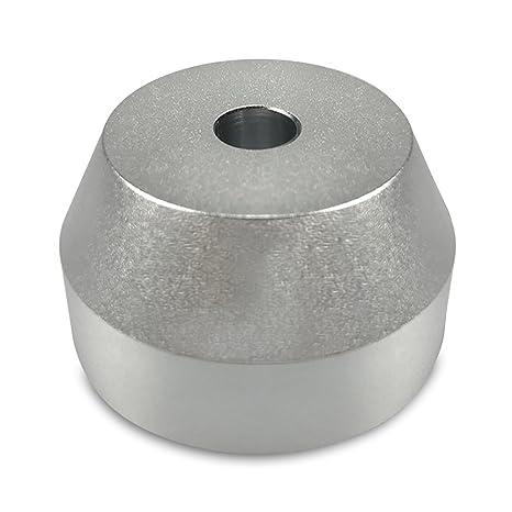 45 rpm adaptador aluminio sólido – ajuste perfecto para la mayoría ...