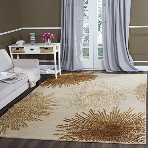 Safavieh Soho Collection SOH712A Handmade Fireworks Beige and Multicolored Premium Wool Area Rug (8′ x 10′)