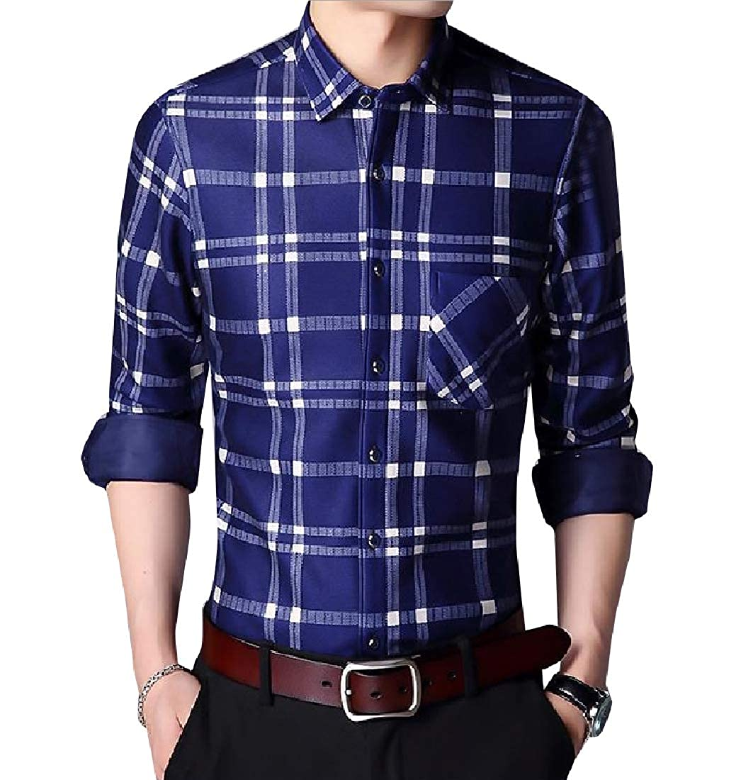 RDHOPE-Men Classic Plaid Regular Fall Winter Oversized Thickened Shirt
