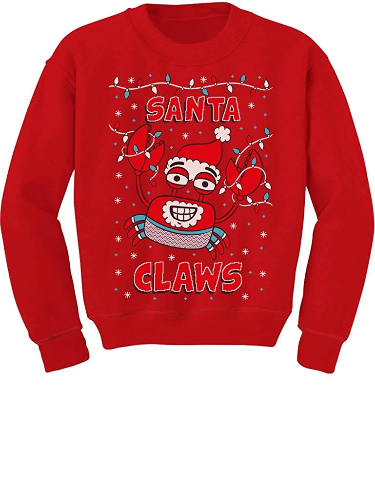 TeeStars - Santa Claws Ugly Christmas Sweater Xmas Lobster Youth Kids Sweatshirt GMPlh3lgfm
