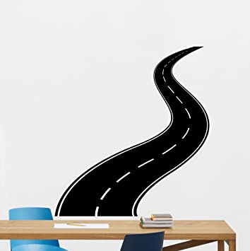 Car Road Wall Decal Way Highway Vinyl Sticker Track Drive Route - Modern car decal sticker girl