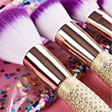 6 Pieces Mermaid Makeup Brush Set Lovely Makeup