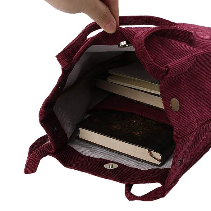 f3f793a0fed02 JERKKY Frauen Cord Shopping Umhängetasche Lässig Messenger Lady Tote  Handtasche Weinrot  Amazon.de  Küche   Haushalt