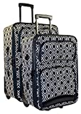Ever Moda Ikat 2 Piece Expandable Luggage Set