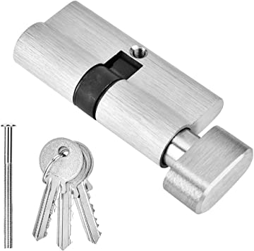 Amazon Com Copper Single Open Lock Cylinder Wooden Bedroom Door Lock Cylinder With Keys Anti Snap Anti Drill Anti Theft Lock Core 65mm Home Improvement