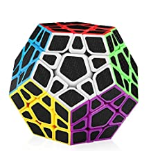 D-FantiX Carbon Fiber Megaminx 3x3 Speed Cube Smooth Magic Cube Puzzle Toys for Kids