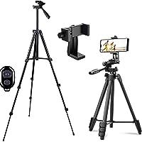 Telefonstativ, kamerastativ och trådlös Bluetooth-kontroll med telefonhållare för actionkamera/DSLR-kamera/smartphone…
