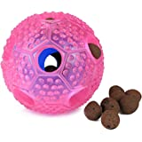 Airsspu Interactive Dog Toy - IQ Treat Ball Food Dispensing Toys for Small Medium Large Dogs Durable Chew Ball - Nontoxic Rubber and Bouncy Dog Ball - Ball Shape Design Cleans Teeth …