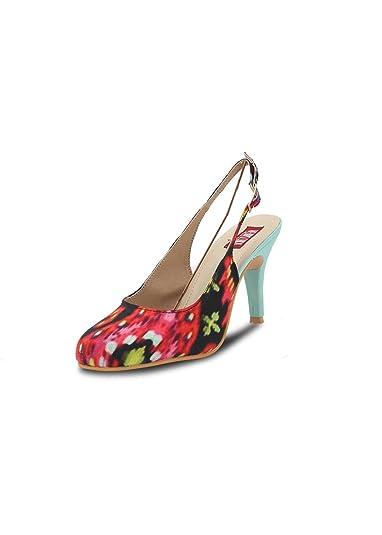 f262fdbe80d Veruschka Women s Red Blue PU Heels - 6.5 UK  Buy Online at Low ...