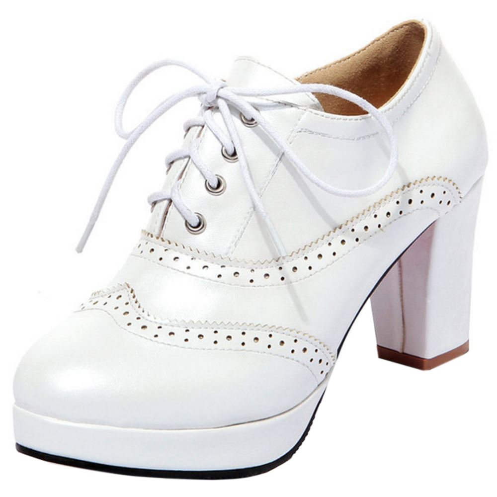 Zanpa Damen Mode Plateau Oxford Schuhe36 EU / 36 AS / 23 CM|White
