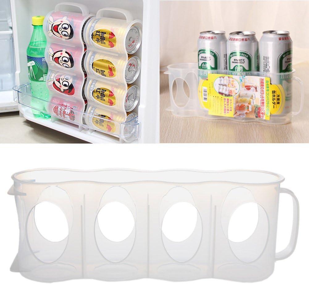 SimpleLife Bier oder Limo-Dose Aufbewahrungshalter K/üche K/ühlschrank Space Saver Organisation Rack wei/ß