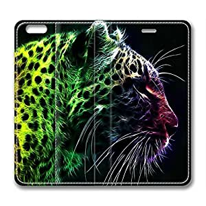 Tiger Colorful DIY Leather iphone 6 plus Case Perfect By Custom Service