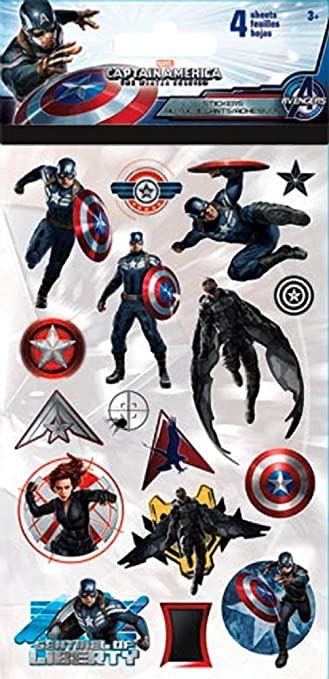 Captain america the winter soldier sticker set