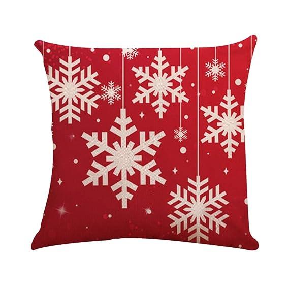 Amazon.com: Christmas Pillow Case Throw Toss Pillowcase ...