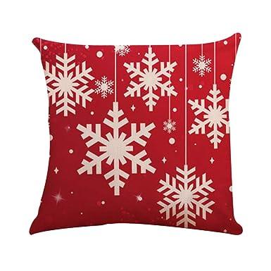 Fossrn Fundas Cojines 45x45 Navidad Decoracion - Copo de nieveCuadrado Funda de Cojín Decoracion Sofa Cama Casa