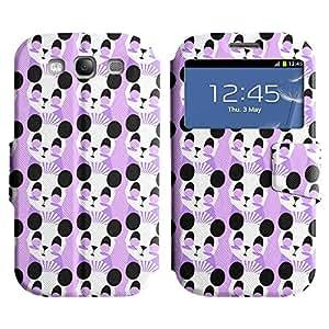 Be-Star Diseño Impreso Colorido Slim Casa Carcasa Funda Case PU Cuero - Stand Function para Samsung Galaxy S3 III / i9300 / i717 ( Dreamy Panda )