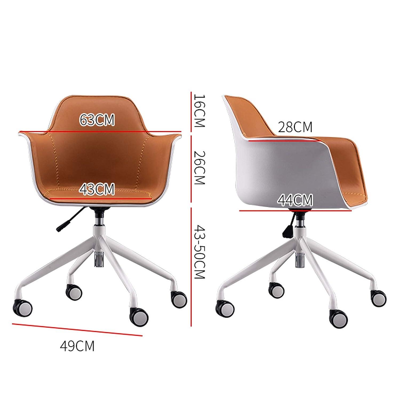 Svängbar stol justerbar höjd kontor skrivbordsstol ergonomiskt ryggstöd datorstol verkställande med bomull linne tyg svamp robust PP-ram 4-benta bas med hållbara hjul, grå BLÅ