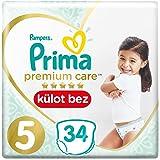 Prima Premium Care Külot Bebek Bezi, 5 Beden, 34 Adet, Junior İkiz Paket