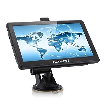 """FLOUREON navegación 7"""" touch screen camiones coche vehículo Navegador GPS Aatellitare mapa Europea y el"""