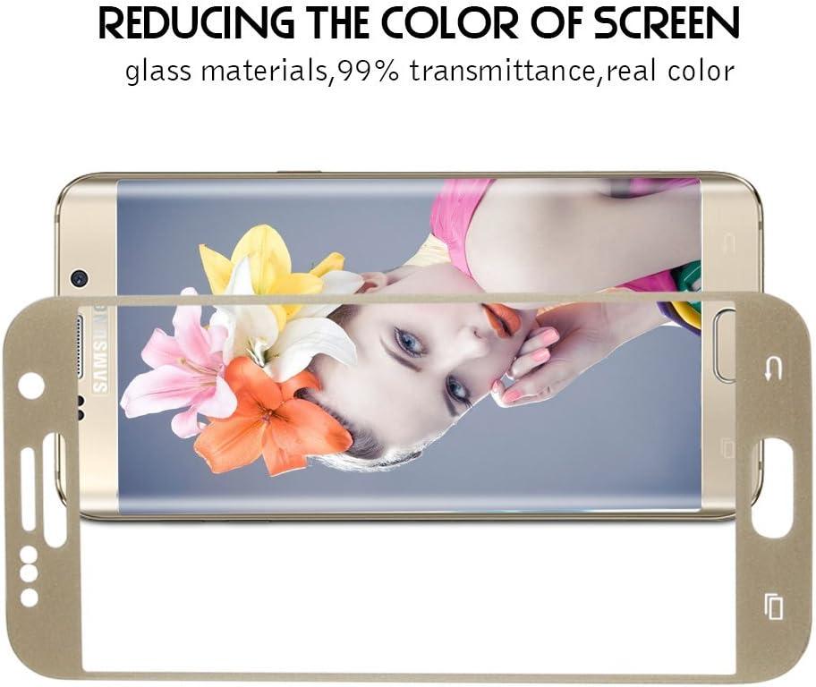 Protection /écran en Verre Tremp/é Tempered Glass Full Screen Protector pour Samsung Galaxy S7 5.1 3D Curved - Or TEFOMATE Verre Tremp/é Galaxy S7