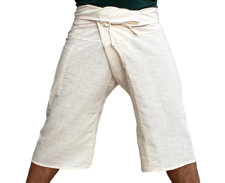 RaanPahMuang Brand Salaap Soft Weave Thai Fisherman Capri Wrap Plus Size Pants
