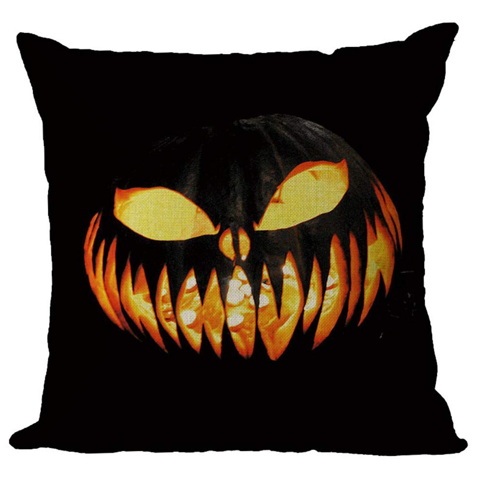 Zainafacai Hoem Decor New Arrival-2018Halloween Pillowcase Decorative Upholstery Cushion Throw Pillow Cases-9 Multicolor Patterns (B, One Size) by Zainafacai Hoem Decor (Image #2)