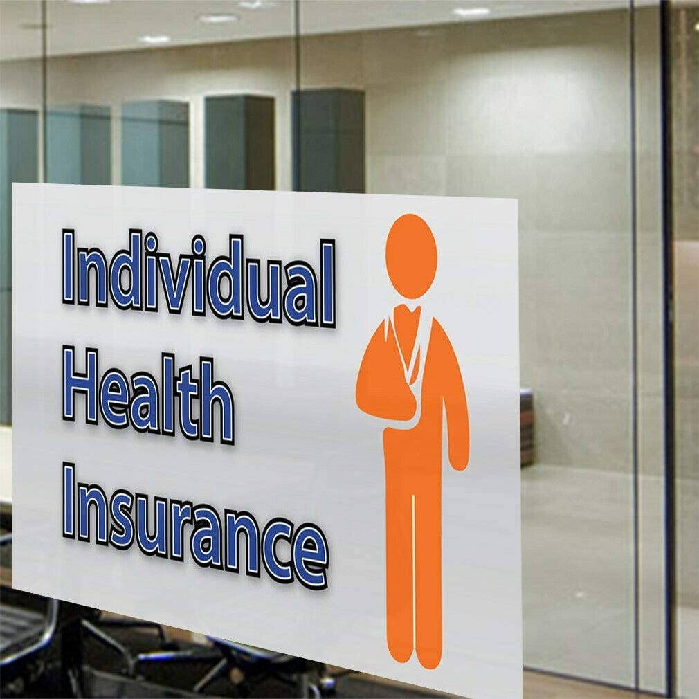 Decal Sticker Individual Health Insurance Business Business Outdoor Store Sign-54inx36in