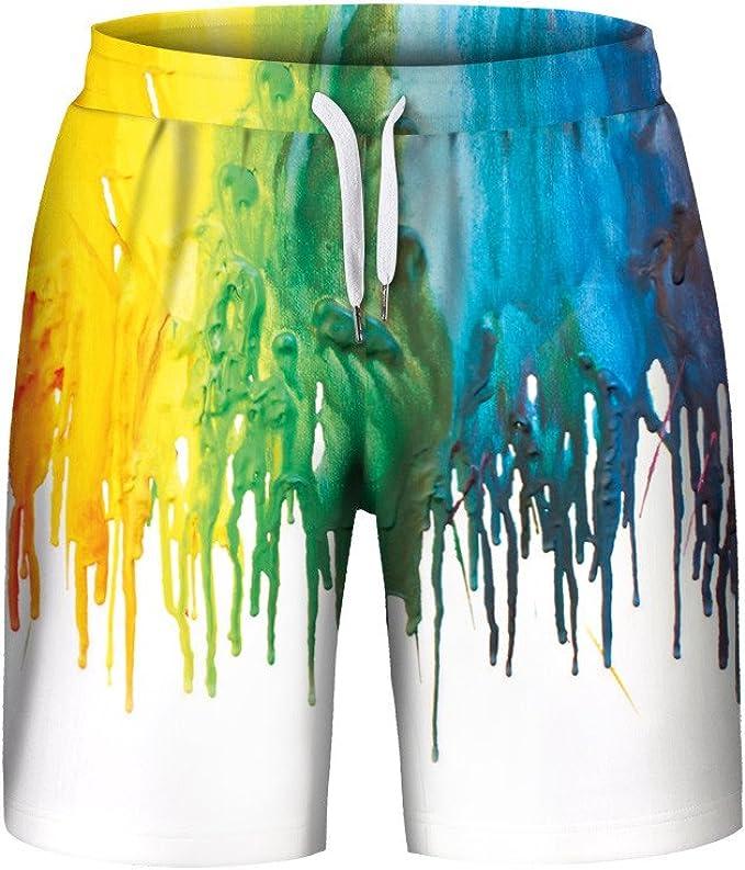 Zoilmxmen Mens Swim Trunks Board Shorts Quick Dry Beach Shorts with Mesh Liner Swimwear Swimsuits