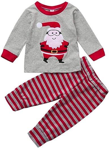 Camisas y Pantalones Bebe Navidad Pijamas Enteros de Invierno para Niño y Niña por ESAILQ G