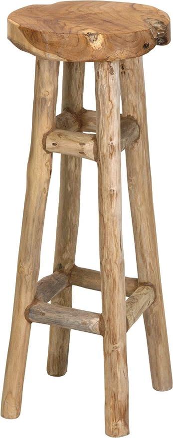 Retro Barhocker Hocker Teak Massivholz Stehtische Couchtisch Beistelltisch Braun